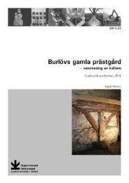 renovering av källare, Burlövs sn, AM, 2011 - Regionmuseet ...