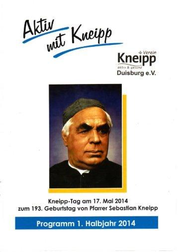 Programm 1. Halbjahr 2014 - Kneipp-Verein Duisburg eV