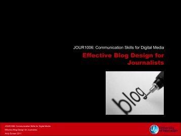 Effective Blog Design for Journalists