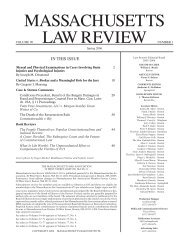 MASSACHUSETTS LAW REVIEW