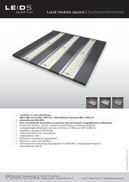 Lucid modula square | Systeemplafondlamp - LEIDS
