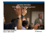 Variable Annuities Pricing and Risk Management