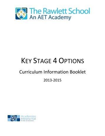 KS4 Options Booklet for Students 2013-2015 - The Rawlett School