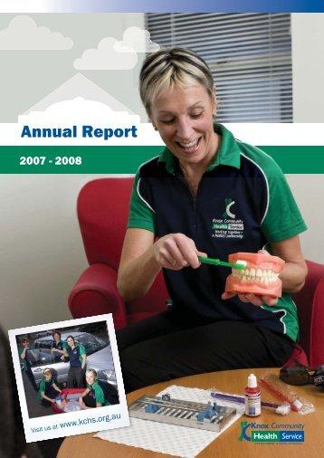 2007-2008 Annual Report - Knox Community Health Service