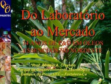 Do Laboratório para o Mercado - IV Simpósio Brasileiro de Óleos ...