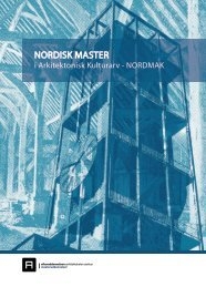 Nordmak - Nordisk Master i arkitektonisk kulturarv - Center for ...