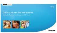 Guide to Infusion Site Management - Children with Diabetes