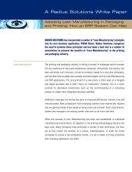 Adopting Lean Manufacturing in Packaging and Printing ... - Radius