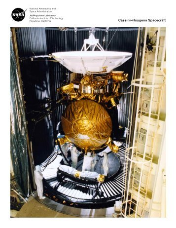 Cassini–Huygens Spacecraft - Cassini - NASA