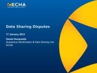 Data Sharing Disputes - Europa