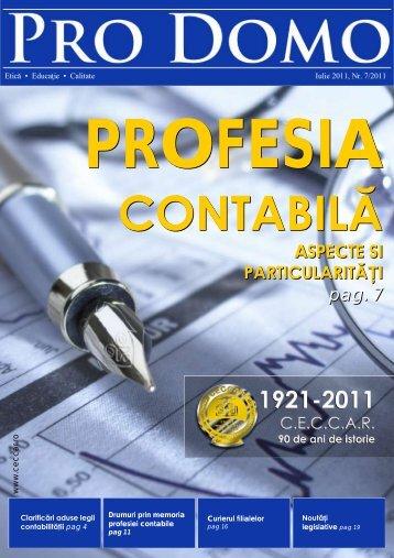 Pro Domo iulie 2011 - C.E.C.C.A.R. – Filiala Brasov