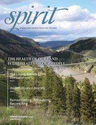 Spirit Magazine Spring/Summer issue PDF - First Nations Health ...