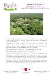 dimanche 23 juin 2013 communiqué de presse - CDOS Seine et ...