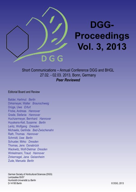 DGG-Proceedings Vol. 2, 2012