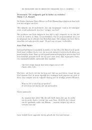 de zwijgende god in heden en verleden (m.c.a. korpel) 1 Presentatie ...
