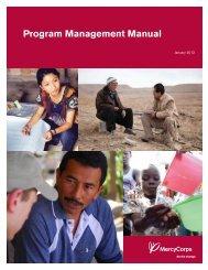 Program Management Manual - Mercy Corps