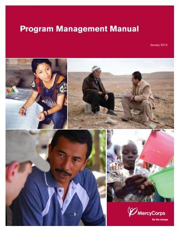 Program Management Manual - Mercy Corps