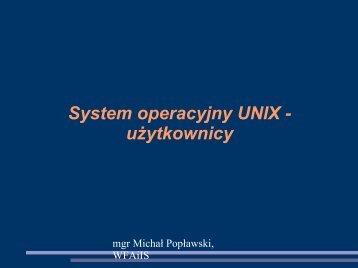 System Unix - konta użytkowników