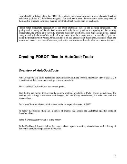 Using AutoDock