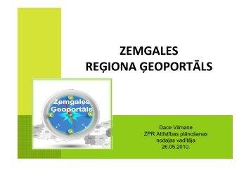 zemgales reģiona ģeoportāls - Valsts reģionālās attīstības aģentūra