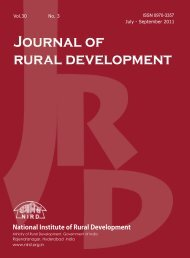 Issue for July - September 2011 - National Institute of Rural ...