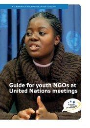 youth Forum.indd - Junges UNO-Netzwerk Deutschland e.V.