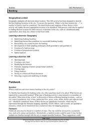 GIS Worksheet 3 - Pearson Australia Media Resources