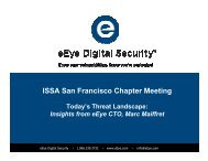 Today's Threat Landscape: Insights From eEye CTO Marc Maiffret
