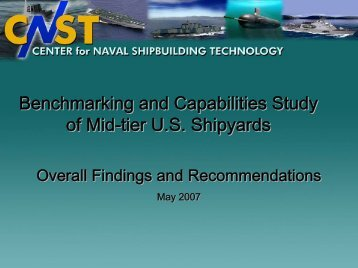Benchmarking and Capabilities Study of Mid-tier U.S. ... - NSRP