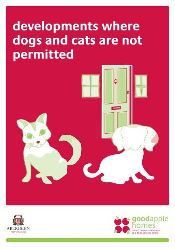 Developments where dogs and cats are not permitted