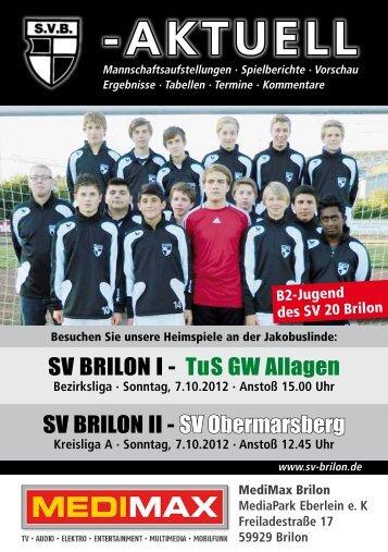 3. Ausgabe vom 07.10.2012 (PDF 6,86MB - SV 20 Brilon