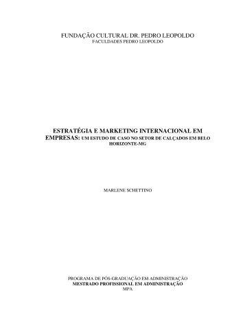 estratégia e marketing internacional em empresas - Fundação ...