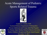 Acute management of orthopaedic sports trauma - Alpert Medical ...