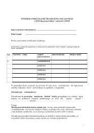 Wniosek o przyznanie świadczenia socjalnego z ZFSŚ dla ... - ZOJM