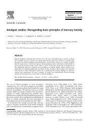 Scientific Comment Amalgam studies: Disregarding ... - ResearchGate