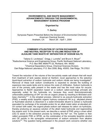 Combined utilization of neutral crown ether and cation exchanger for ...