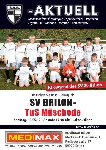 11. Ausgabe vom 13.05.2012 (PDF 9,58MB - SV 20 Brilon