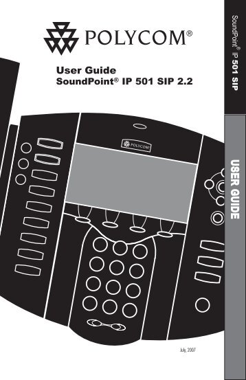 SoundPoint IP 501 User Guide - Polycom Support