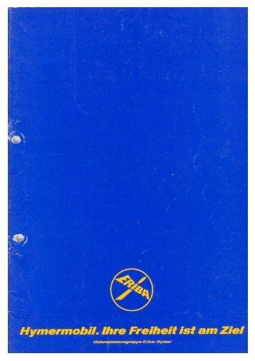Reisemobile 1979 - Prospekt - Wir lieben Oldtimer