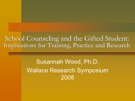 School Counseling and the Gifted Student - Templetonfellows.org
