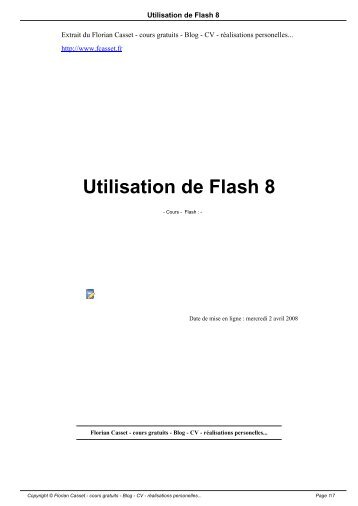 Utilisation de Flash 8 - Florian Casset - cours gratuits - Blog