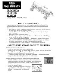 FIELD ADJUSTMENTS - Great Plains Manufacturing