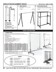 DISPLAY RACKS/GARMENT RACKS - Banasch's