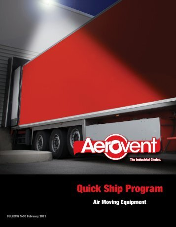 Quick Ship Program - Aerovent