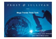 Mega Trends Think Tank - Date - Growth Consulting - Frost & Sullivan