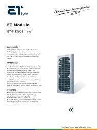 ET Solar PV Module - ET-M53605