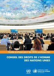 CONSEIL DES DROITS DE L'HOMME DES NATIONS UNIES