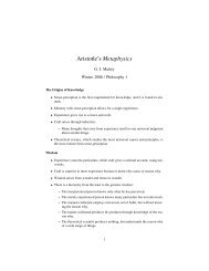 Aristotle's Metaphysics - the UC Davis Philosophy Department