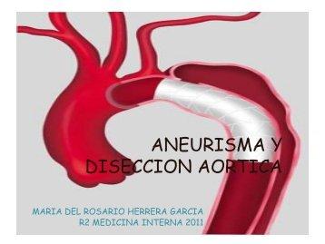 clase diseccion aortica dra. rosario herrera - Departamento de ...