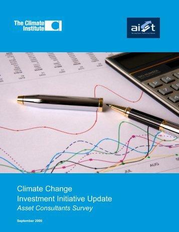 Asset Consultants Survey - The Climate Institute